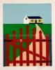 Joseph Willaert - Rood hekken met huisje in achtergrond