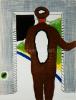 Roger Raveel - De leegte in een vlek op de rug van een man