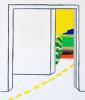Roger Raveel Witte ruimte van een kamer met doorkijk