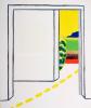 Roger Raveel - Witte ruimte van een kamer met doorkijk