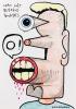Kamagurka Man met bloedend tandvlees