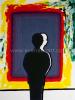 Roger Raveel - Bezinning bij de weerschijn in kleuren verzadigd