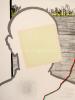 Roger Raveel - Zelfportret met vierkant
