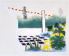 Roger Raveel - Gekleurde tuin