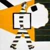 Roger Raveel - Man op stap met de leegte van een vierkant