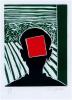 Roger Raveel - Kop met rood vierkant