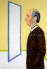 Roger Raveel Een zelfportret in profiel