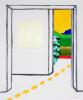 Roger Raveel Wit vierkant in een kamer met doorkijk