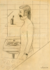 Etienne Elias Zelfportret in badkamer