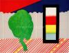 Roger Raveel Muurtje, boompje en de drie primaire kleuren