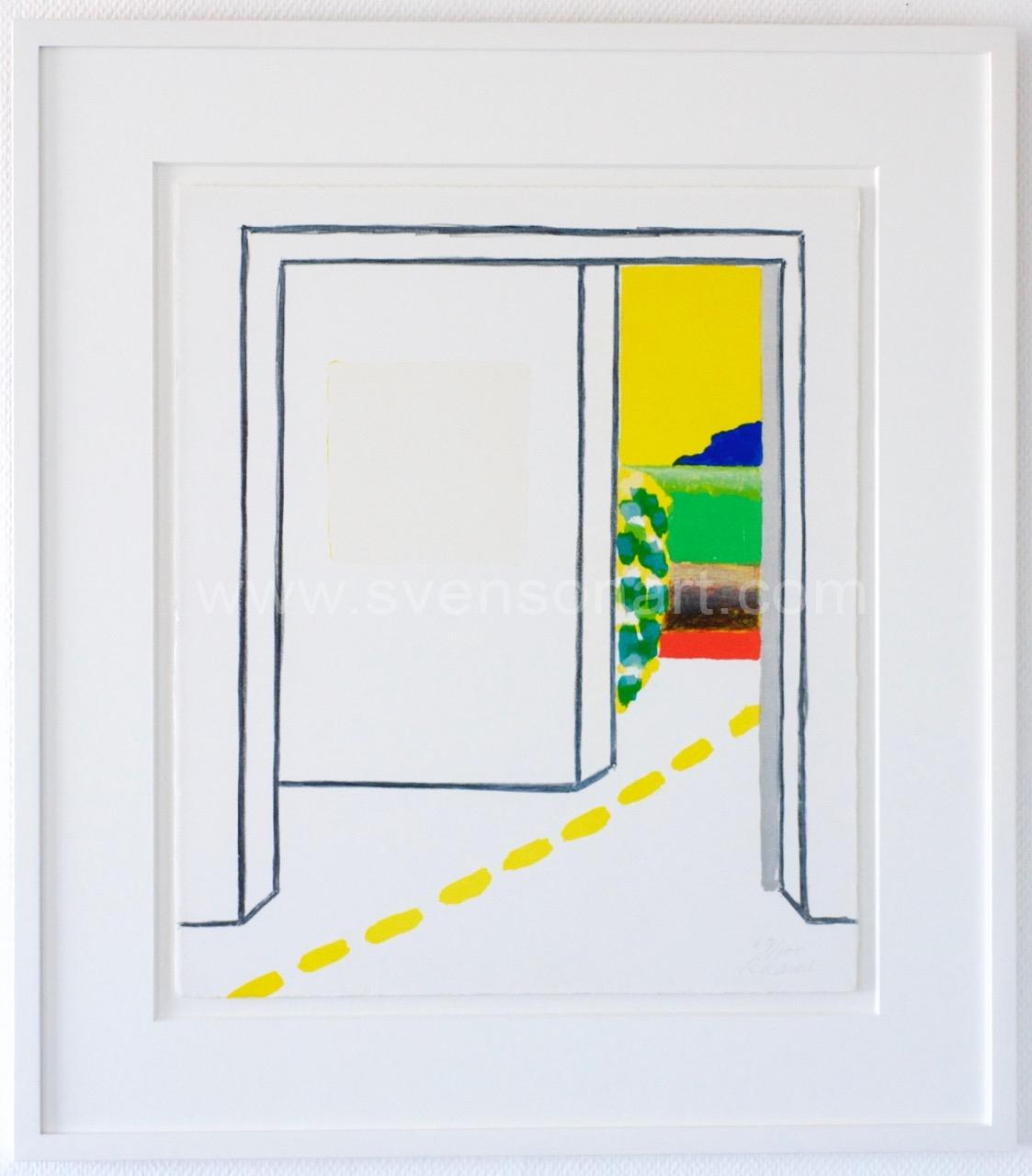 Raveel roger witte ruimte van een kamer met doorkijk svensonart - Decoreren van een volwassen kamer ...