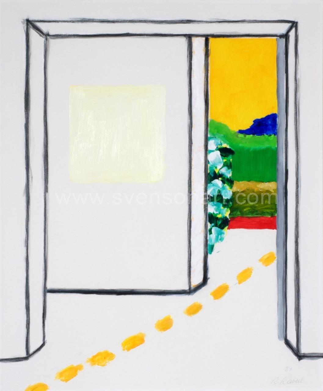 Raveel roger wit vierkant in een kamer met doorkijk svensonart - Upgrade naar een kamer ...