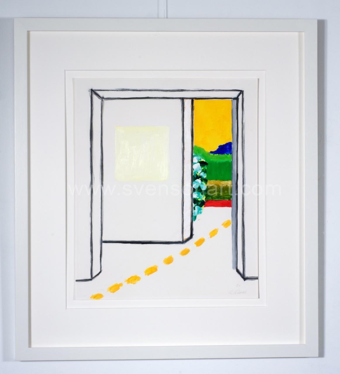 Raveel roger wit vierkant in een kamer met doorkijk svensonart - In een kamer ...