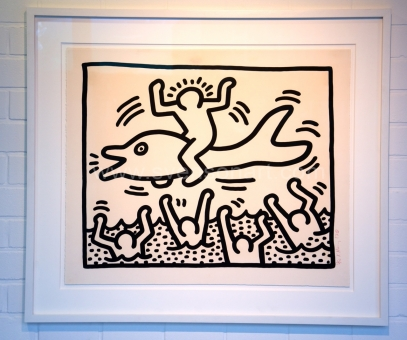 Haring Keith - Man on dolphin