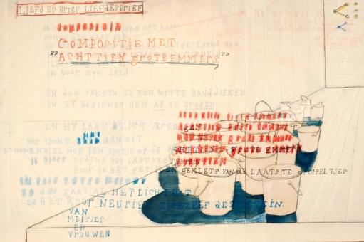 Dierckx Stijn - Compositie met achttien grote emmers