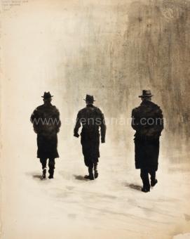 Deglin Bart - Men walking