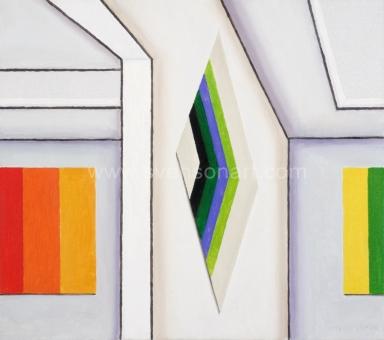 De Clerck Antoon - Drie abstracte schilderijen