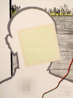 Raveel Roger - Zelfportret met vierkant