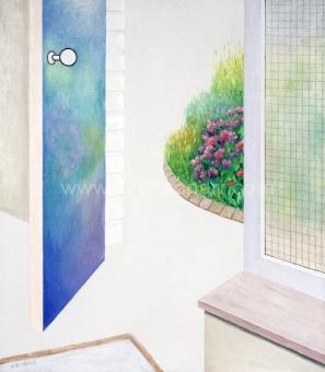 De Clerck Antoon - Bloemenweerspiegeling