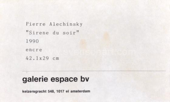 Alechinsky Pierre - Sirène du soir