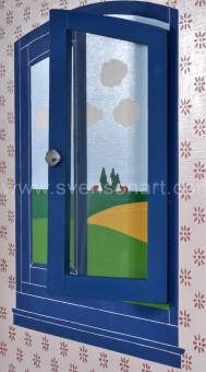 Willaert Joseph - Blauw venstertje met openstaand raampje