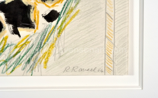 Raveel Roger - Betonmuur en struikgewas