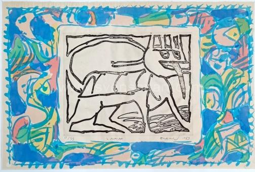 Alechinsky Pierre - Le chien-roi