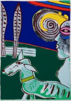 Corneille Guillaume - Kleurenlithografie uit 1978