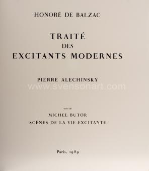 Alechinsky Pierre - Traité des excitants modernes