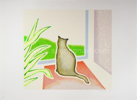 De Clerck Antoon - Kat voor het venster