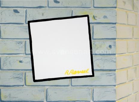 Raveel Roger - Muurtje met wit in het vierkant
