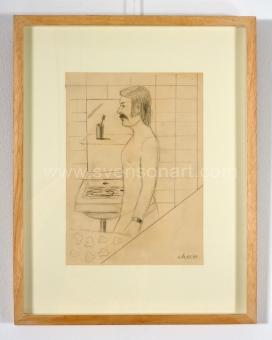 Elias Etienne - Zelfportret in badkamer