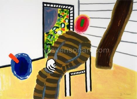 Raveel Roger - Man op stoel